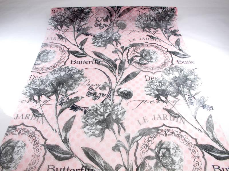 Tenture rose aux motifs Butterfly