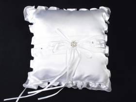 Coussin Alliance de couleur Blanc - 20x20cm