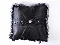 Coussin Alliance de couleur Noir - 20x20cm