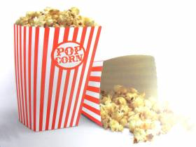 Pot à pop corn en carton x10 - Rouge