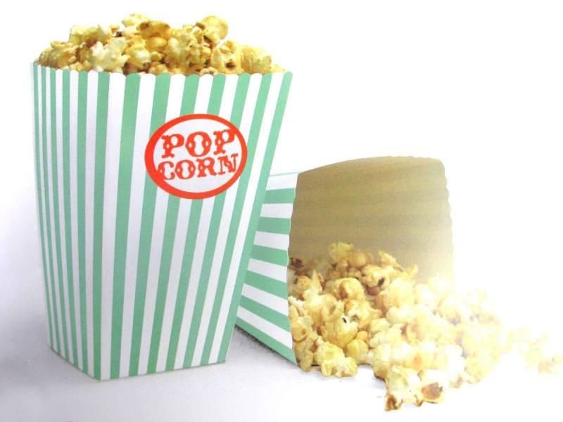 Pot à pop corn en carton x10 - Tilleul