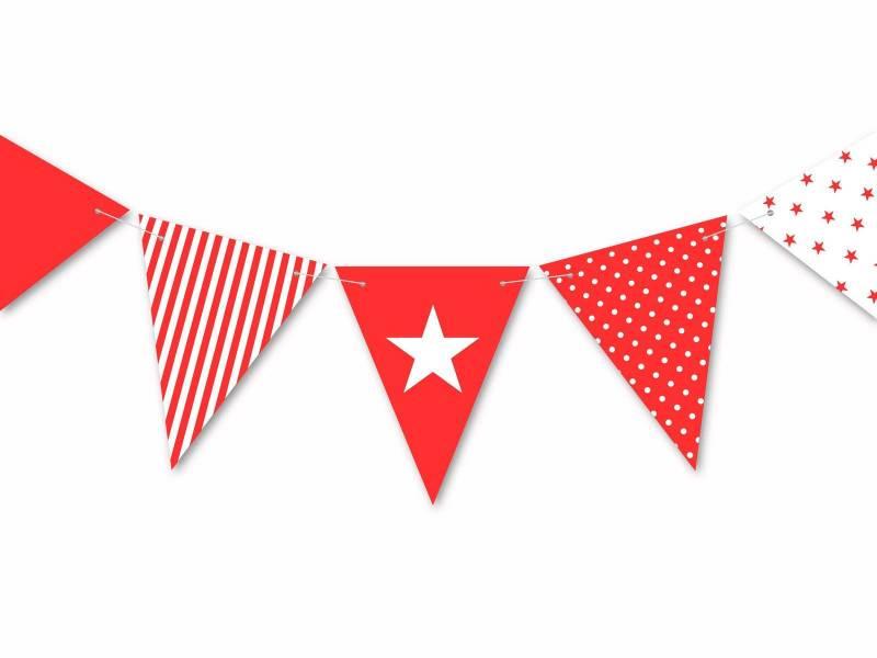 Guirlande anniversaire et fête rouge 3.5m