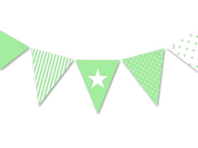 Guirlande anniversaire et fête vert tilleul 3.5m