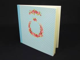 Livre d'or Mariage Romantique couleur Turquoise - 50 pages