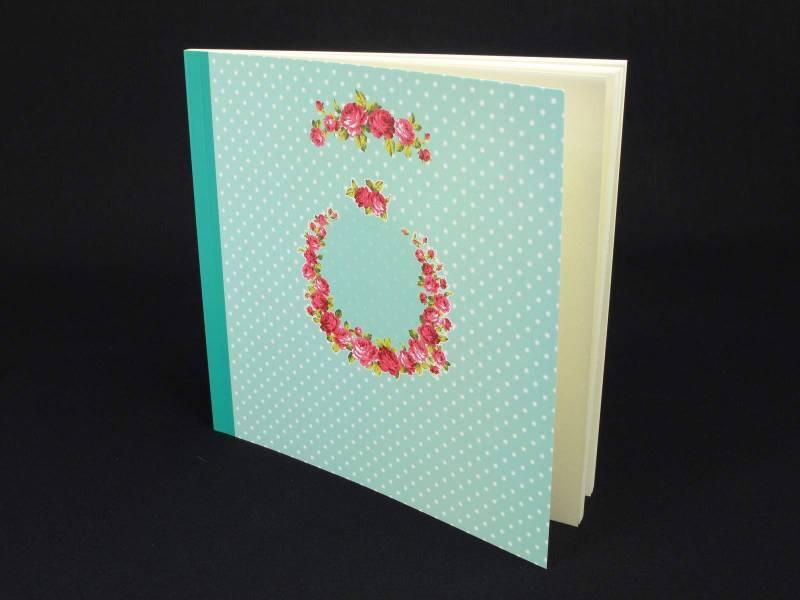 Livre d'or Mariage Romantique couleur Vert d'eau - 50 pages