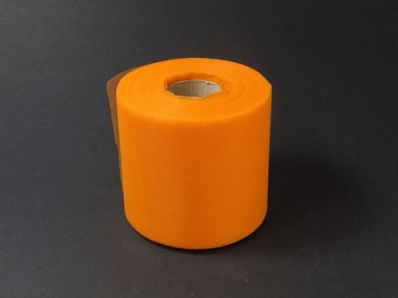 8cm Rouleau de Tulle - Mandarine
