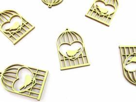 Cage à oiseau déco printemps - Vert Tilleul