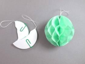 Mini boule en papier alvéolé - vert tilleul
