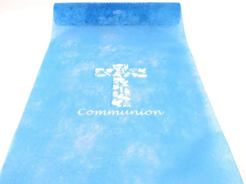 Chemin De Table Communion Bleu