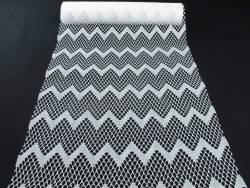 Chemin de table dentelles vagues blanc