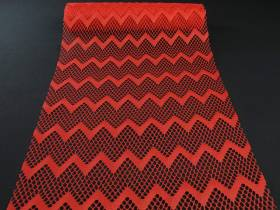 Chemin de table dentelles vagues rouge