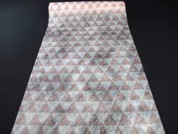 Chemin de table motif triangle - Rose