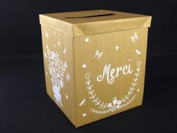 Urne de mariage en carton - Merci