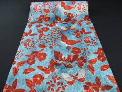 Chemin de table papillon rouge et bleu