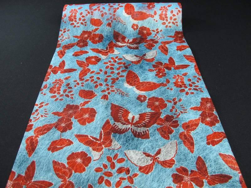 Chemin de table papillon rouge et bleu