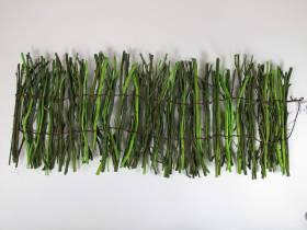 Centre de table en fagots de bois - Vert Tilleul