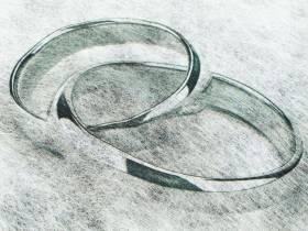 Chemin de table mariage alliance Argent