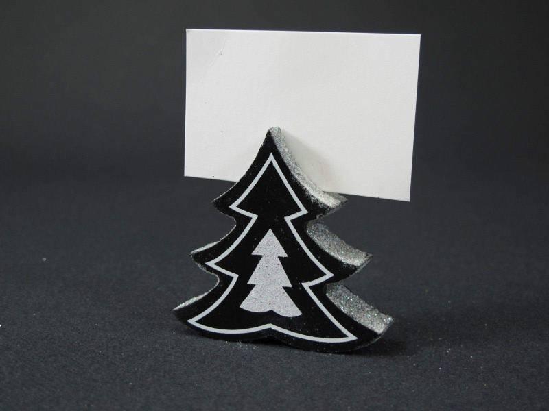 Sapin bois marque place - Noir