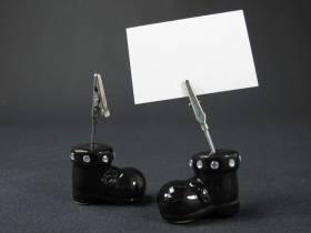 Botte métallisée marque place - Noir