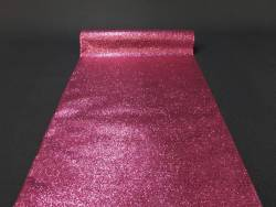 Chemin de table paillette - Fuchsia
