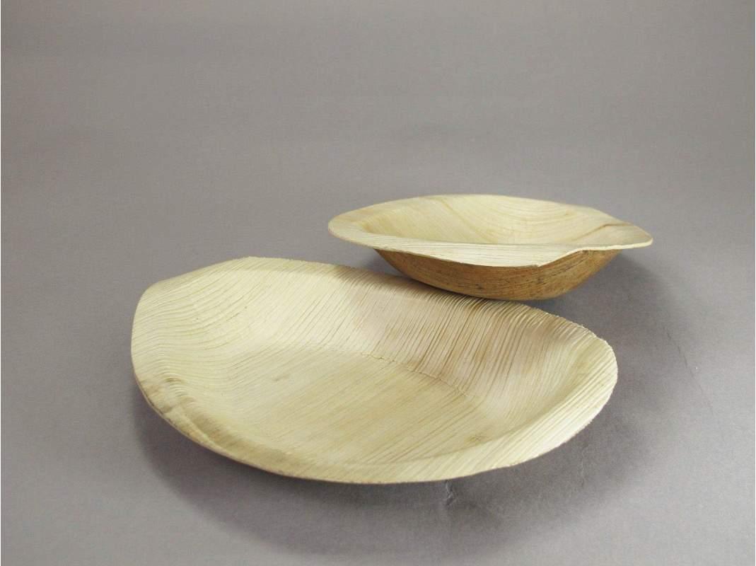 assiette bio feuille de palme elipse 19x13cm. Black Bedroom Furniture Sets. Home Design Ideas