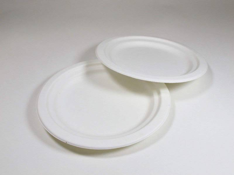 Assiette compostable canne à sucre prémium Ø18cm