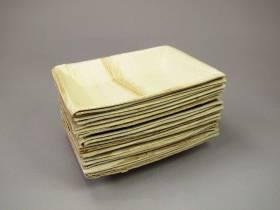 Assiette bio feuille de palme 12x17cm - Cuadra
