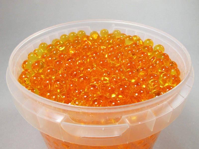 Perle d'eau couleur Orange pour déco de vase - 1L