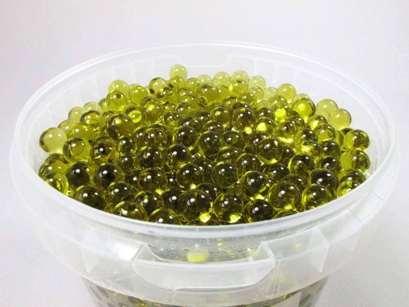 Perle d'eau couleur Caramel pour déco de vase - 1L