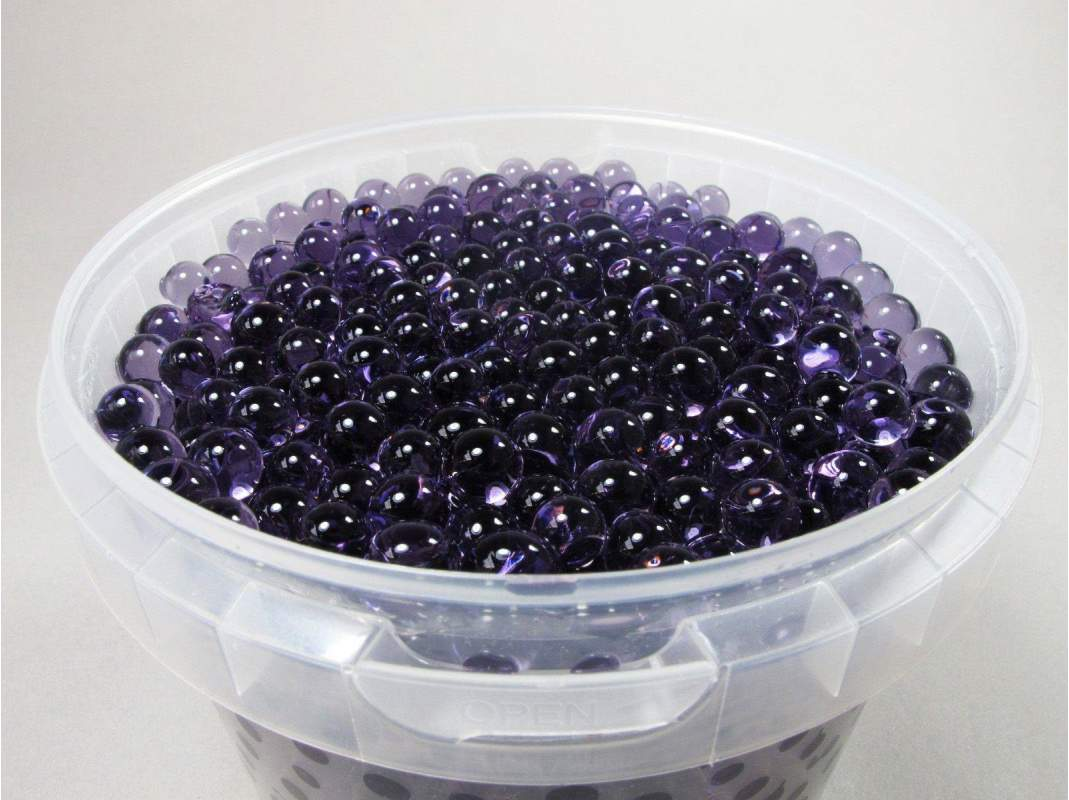 perle d 39 eau couleur aubergine pour d co de vase 1l decofete. Black Bedroom Furniture Sets. Home Design Ideas