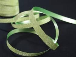 Bolduc brillance paillette Vert Anis - 1cm