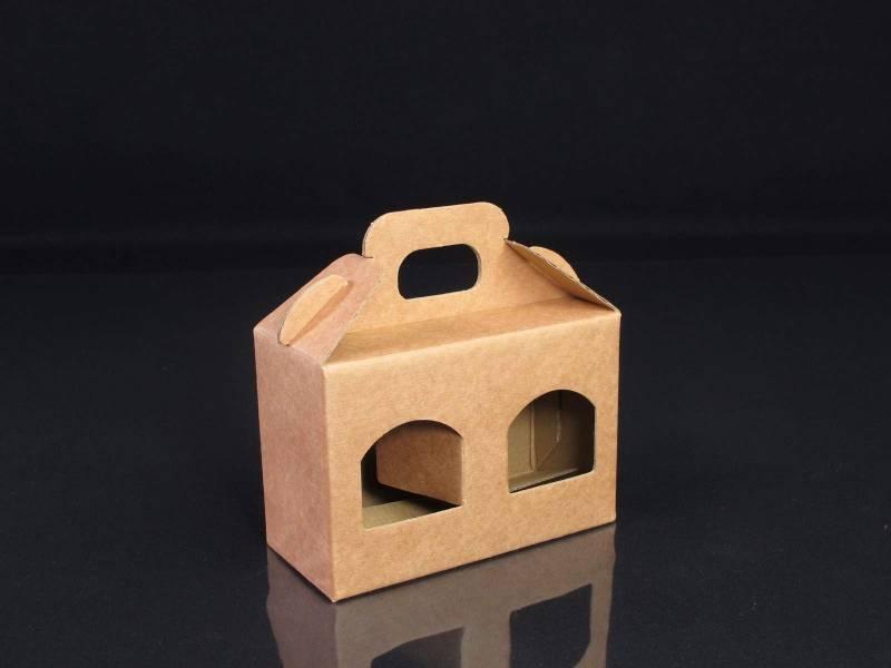 Boite en carton rigide - 2 pots de confiture 8,5cm