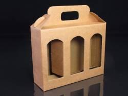 Boite en carton rigide - 3 pots de confiture allongés 14cm