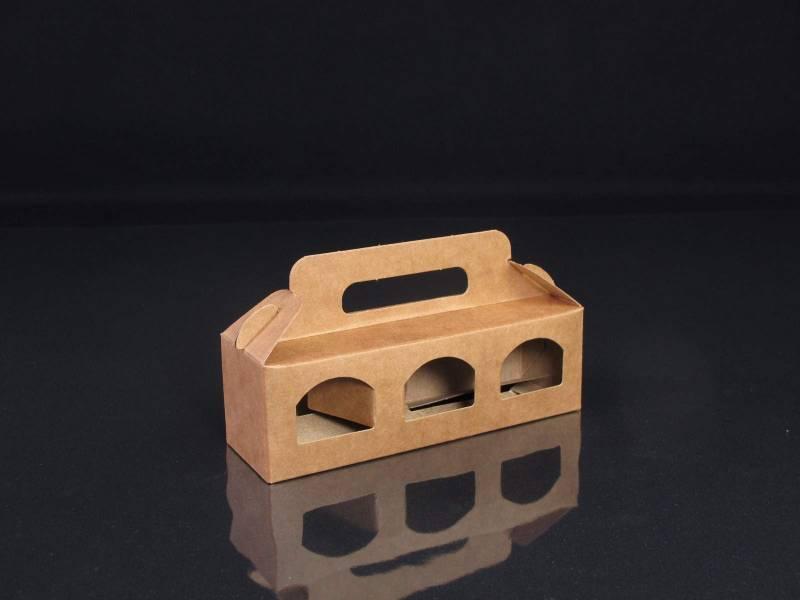 Boite en carton rigide - 3 petits pots de confiture 5cm