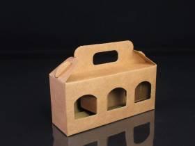 Boite en carton rigide - 3 pots de confiture 8cm