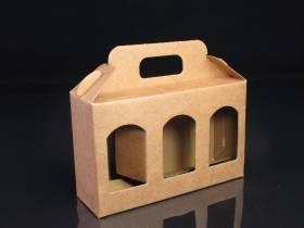 Boite en carton rigide - 3 pots de confiture 11cm