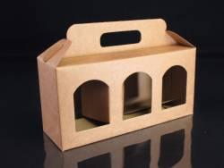 Boite en carton rigide - 3 pots de confiture 11cm - Ø7cm