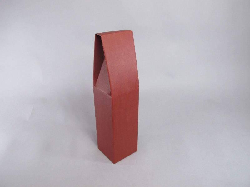 Boite 1 bouteille - Bordeaux 9x9x37cm