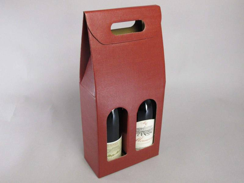 Boite 2 bouteilles - Bordeaux 18x9x39cm