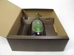 Coffret unica pour 3 bouteilles - Cuir marron