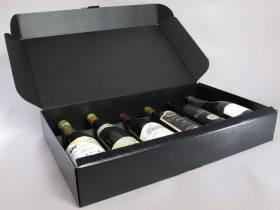 Coffret 6 bouteilles - Cuir Noir