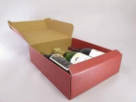 Coffret 3 bouteilles avec dorure - Seta Bordeaux