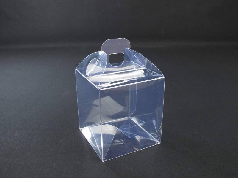 Boite alimentaire - Valisette confiserie PVC 9x9x10cm