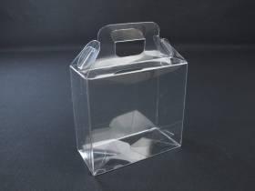 Boite alimentaire - Valisette confiserie PVC 13x6x12cm