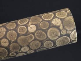 Bobine de papier cadeau motifs rondins de bois 25m