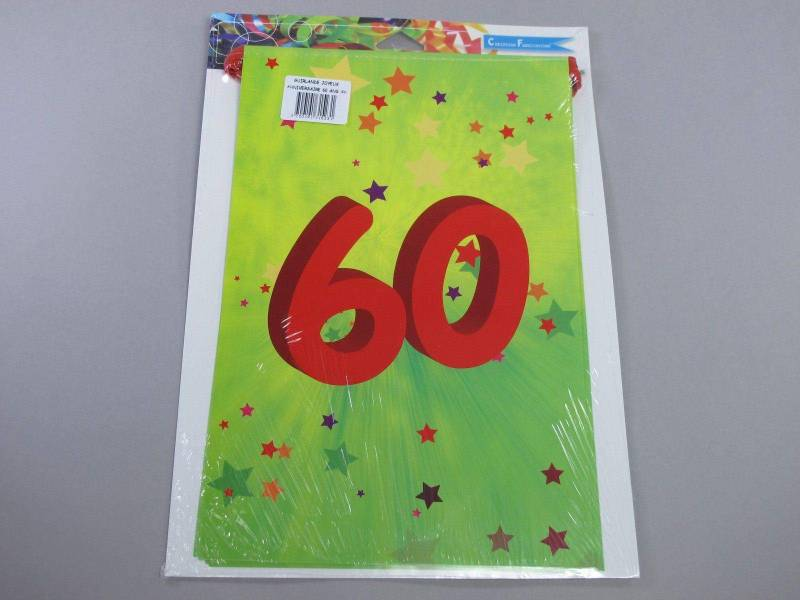 Guirlande anniversaire - 60 ans