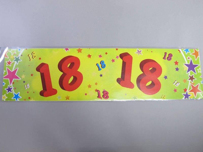 Banderole anniversaire - 18 ans
