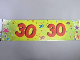 Banderole anniversaire - 30 ans