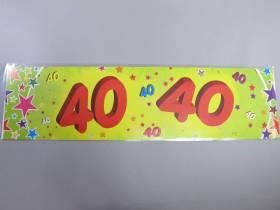 Banderole anniversaire - 40 ans