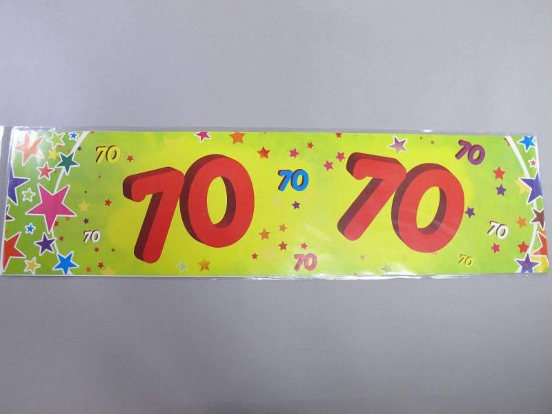 Banderole anniversaire - 70 ans